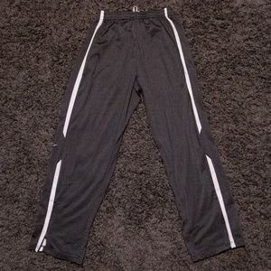 Nike Large Gray Sweatpants with White Stripes